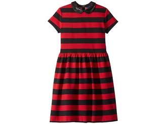 Polo Ralph Lauren Striped Stretch Ponte Dress (Little Kids/Big Kids)