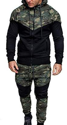 Shkers123 Men's Trcksuits utumn Winter Sports Swetshirt Top Pnts Hoodie Cmouflge Suit Joggers Gym Sets