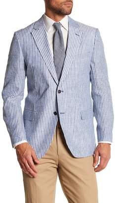 Nautica Stripe Print Linen Blazer