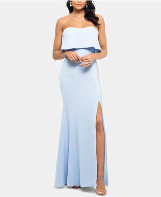 Xscape Evenings Strapless Popover Evening Gown