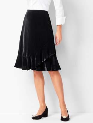 Talbots Draped Velvet Skirt