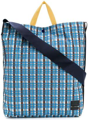 Marni checked design tote bag