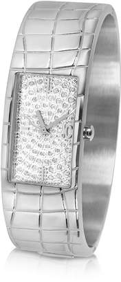 Just Cavalli Circum - Silvered Dial Stainless Steel Large Cuff Watch