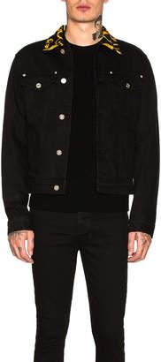 Versace (ヴェルサーチ) - Versace VERSACE Denim Jacket in Black | FWRD