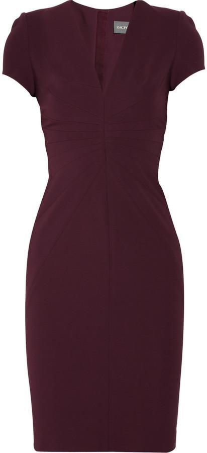 Zac Posen Stretch-crepe dress
