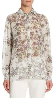 Giambattista Valli Zinna Button Down Blouse