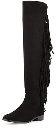 Stuart Weitzman Mane Fringe Over-the-Knee Suede Boot $698 thestylecure.com
