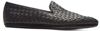 Bottega Veneta Intrecciato Leather Loafers - Mens - Black
