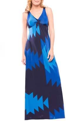 Olian Olivia Sleeveless Maternity Maxi Dress