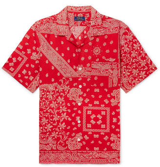 Polo Ralph Lauren Printed Linen, Cotton And Silk-Blend Shirt