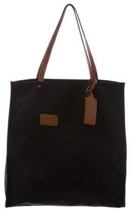 Tumi Leather-Trimmed Tote Bag Black Leather-Trimmed Tote Bag