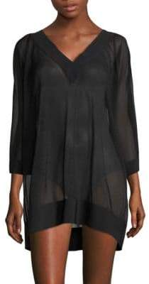 Chiara Boni Textured Coverup Dress