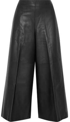 Maison Margiela Leather Wide-Leg Pants