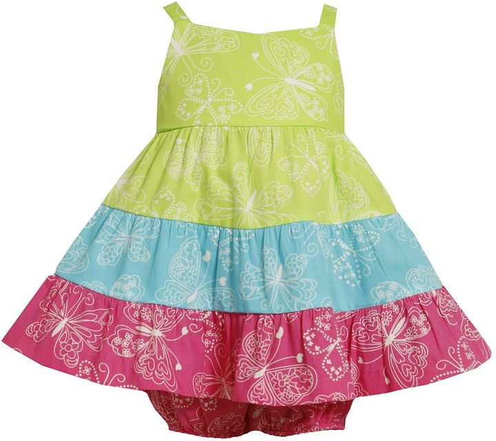 Bonnie Jean butterfly colorblock sundress - baby