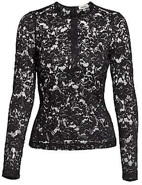L'Agence Women's Annika Long-Sleeve Lace Top