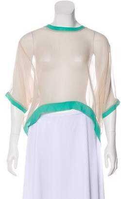 Elizabeth and James Silk High-Low Blouse