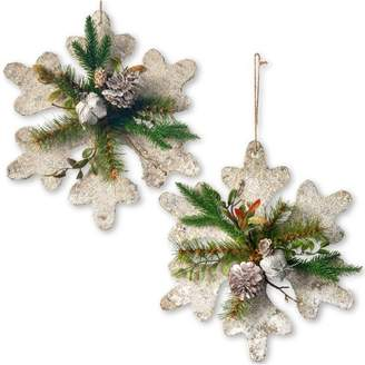 Co National Tree Snowflake Decoration Shaped Ornament Set