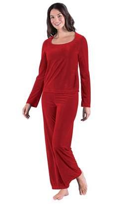 4f307b1edf PajamaGram Women s Velour Pajamas with Long-Sleeved Top