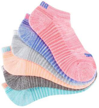 Puma Women's Low-Cut Socks, Pack of 6 Pairs - Bright , 9-11