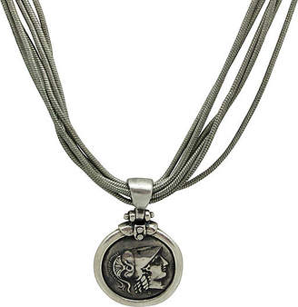 One Kings Lane Vintage Grecian Coin Pendant on Chain