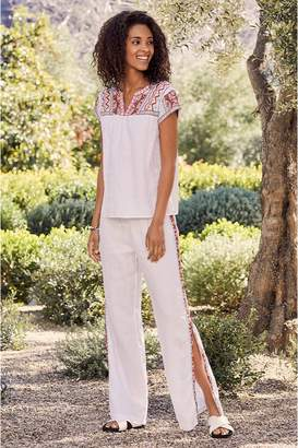 cdd86a35a5892b Johnny Was Ezra Side Slit Palazzo Pant