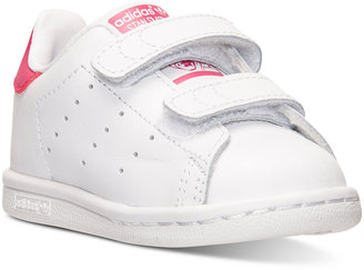 adidas Toddler Girls' Stan Smith Casual Sneakers from Finish Line $45.99 thestylecure.com