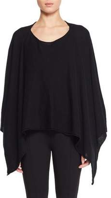 The Row Merlo Round-Neck Fine Cashmere Poncho Sweater