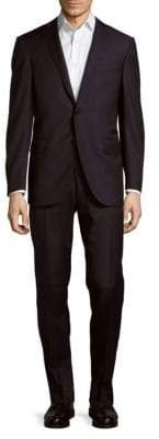 Corneliani Italian Two-Piece Wool Striped Suit