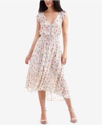 Lucky Brand Floral-Print High-Low Midi Dress