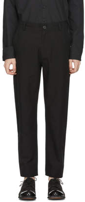 Isabel Benenato Black Five-Pocket Trousers