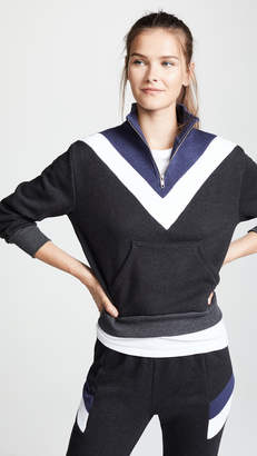 Wildfox Couture Blocked Soto Warm Up Pullover