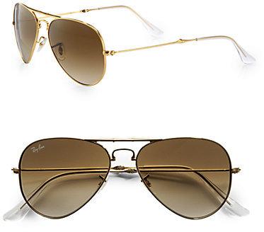 Ray-Ban Metal Folding Aviator Sunglasses