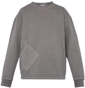 Lemaire Crew Neck Cotton Sweatshirt - Mens - Light Grey