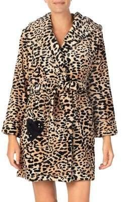 Betsey Johnson Cozy Time Plush Robe