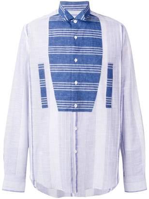 Loewe contrasting panel shirt