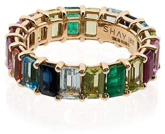 Shay rainbow eternity 18K gold ring