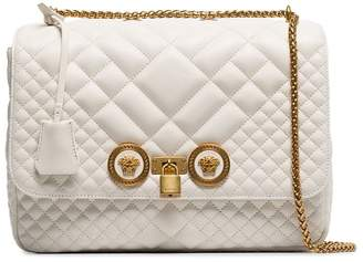 Versace white quilted leather icon bag