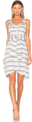 DEREK LAM 10 CROSBY Tie Front Stripe Dress $395 thestylecure.com
