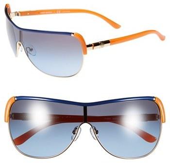 Tory Burch 'Pilot' 34mm Metal Wrap Sunglasses