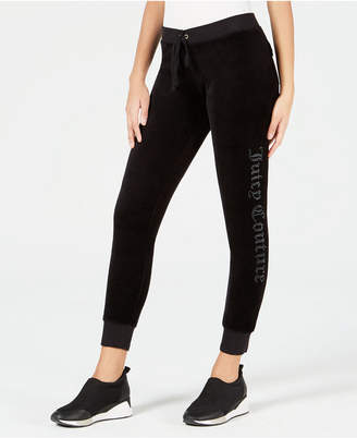 Juicy Couture Embellished Velour Sweatpants