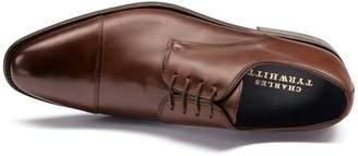 Charles Tyrwhitt Brown Performance Derby Toe Cap Shoe Size 11