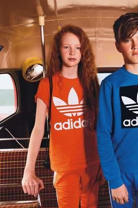 adidas Girls Orange Trefoil Tee - Orange