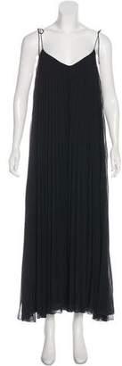 Halston Pleated Maxi Dress