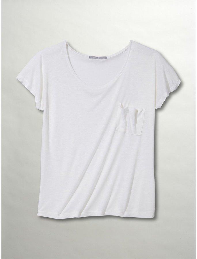 SOMEWHERE Women's Loose Fit Micro-Modal T-Shirt, 10% Silk