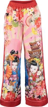 Dolce & Gabbana Japan Print Pajama Pant