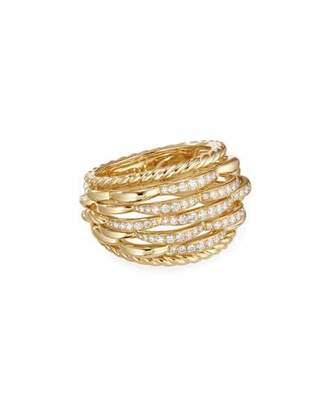 David Yurman Tides 18k Gold Woven Diamond Ring, Size 7