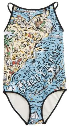 Burberry Sandie Beach One-Piece Swimsuit