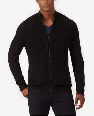 Kenneth Cole Men's Full-Zip Mock-Collar Cardigan