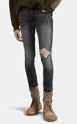 Amiri Men's Broken Skinny Jeans - Gray