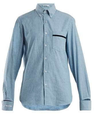 BLOUSE Novus patch-pocket cotton shirt